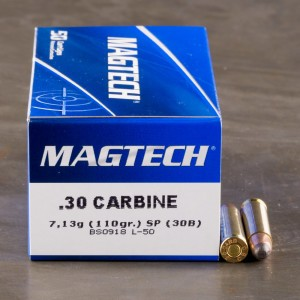 50rds - 30 Carbine Magtech 110gr. Soft Point Ammo