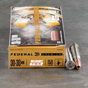 20rds – 30-30 Federal 150gr. Barnes TSX Ammo