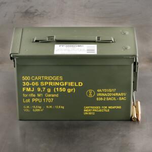 500rds – 30-06 Prvi Partizan M1 Garand 150gr. FMJ Ammo in Ammo Can