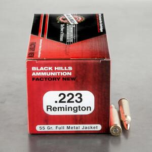 50rds - 223 Black Hills 55gr. Full Metal Jacket Ammo