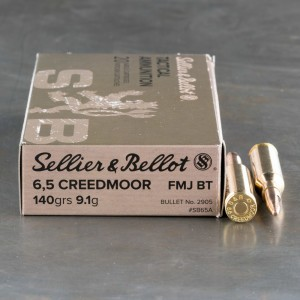500 Rounds - 6.5mm Creedmoor Sellier & Bellot 140gr. FMJBT Ammo