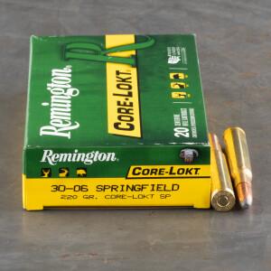 20rds - 30-06 Remington 220gr Core-Lokt Soft Point Ammo