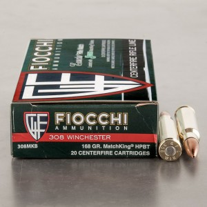 200rds - 308 Fiocchi 168gr. MatchKing Hollow Point Ammo
