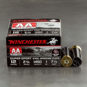 "25rds - 12 Gauge Winchester AA Steel Sporting Clay 2-3/4"" 1 oz. 7.5 Ammo"