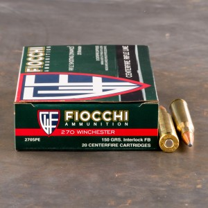 20rds - 270 Win Fiocchi 150gr PSP Ammo