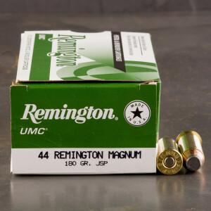 50rds - 44 Mag Remington UMC 180gr. JSP Ammo
