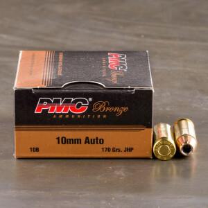 25rds – 10mm PMC Bronze 170gr. JHP Ammo