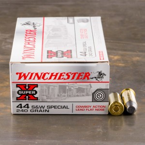 50rds - 44 Special Winchester Cowboy 240gr. Lead Flat Nose Ammo