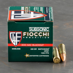 500rds – 300 AAC Blackout Fiocchi 220gr. HPBT MatchKing Ammo