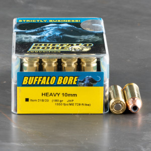 20rds – 10mm Buffalo Bore 180gr. JHP Ammo