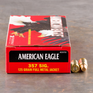 50rds - 357 Sig Federal American Eagle 125gr. FMJ Ammo