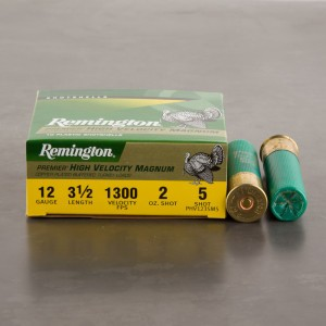 "10rds - 12 Gauge Remington Premier HV Magnum 3 1/2"" 2oz. #5 Turkey Ammo"