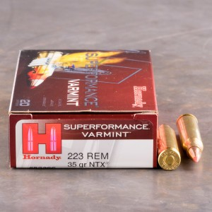 200rds - .223 Hornady Superformance Varmint 35gr. NTX Ammo