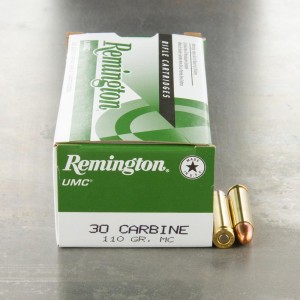 500rds - 30 Carbine Remington UMC 110gr. FMJ Ammo