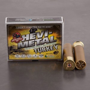 "5rds - 12 Gauge Hevi-Metal Turkey 3 1/2"" 1 1/2oz. #4 Shot Ammo"