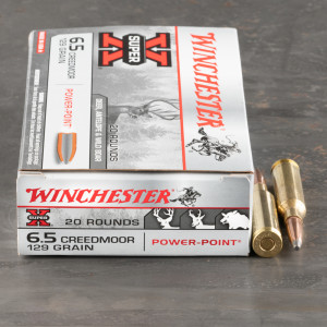 20rds – 6.5 Creedmoor Winchester Super-X 129gr. Power Point Ammo