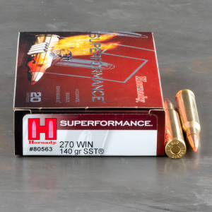 20rds – 270 Win Hornady Superformance 140gr. SST Ammo
