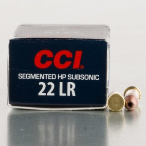 50rds - 22LR CCI Quik-Shok 40gr. Sub-Sonic Segmented Hollow Point Ammo
