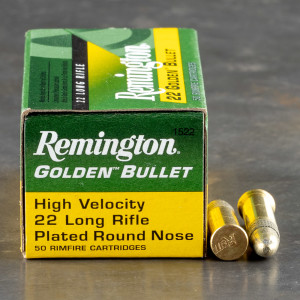 50rds - 22LR Remington Golden Bullet 40gr. Solid Point Ammo