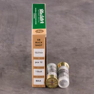 "250rds - 12 Gauge Sellier and Bellot 2 3/4"" 12 Pellet #1 Buckshot Ammo"