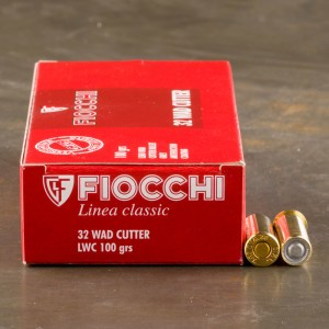 1000rds - 32 S&W Long Fiocchi 100gr. Lead Wadcutter Ammo