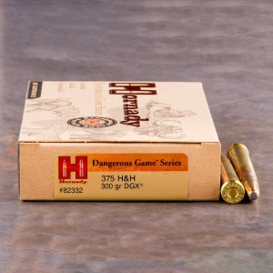 20rds - 375 H&H Mag Hornady 300gr. Dangerous Game eXpanding Series Ammo