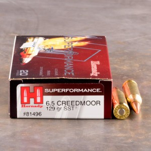 20rds – 6.5 Creedmoor Hornady Superformance 129gr. SST Ammo