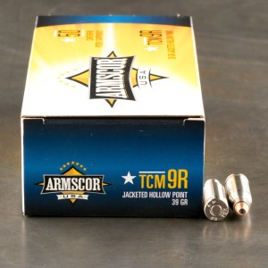 50rds - 22 TCM 9R Armscor USA 39gr. JHP Ammo (Not For Rifles)