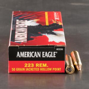 20rds - 223 Federal American Eagle AE223G 50gr. JHP Ammo