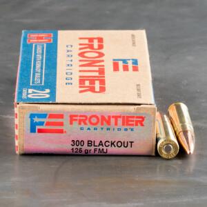 20rds – 300 AAC Blackout Hornady Frontier 125gr. FMJ Ammo