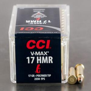 50rds - .17 HMR CCI 17gr. V-Max Polymer Tip Ammo