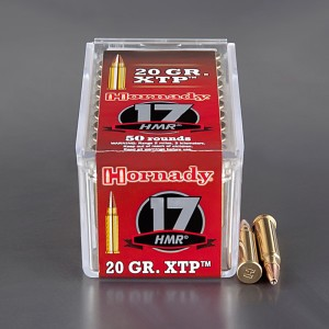 50rds - 17 HMR Hornady 20gr. XTP Hollow Point Ammo