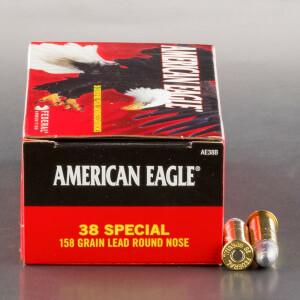 50rds - 38 Special Federal American Eagle 158gr. LRN Ammo
