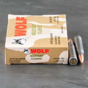 20rds - 30-06 WPA Military Classic 145gr. FMJ Ammo