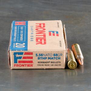 500rds – 5.56x45 Hornady Frontier 68gr. BTHP Match Ammo