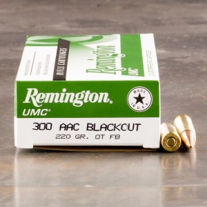 200rds - 300 AAC BLACKOUT Remington 220gr. OTFB Ammo