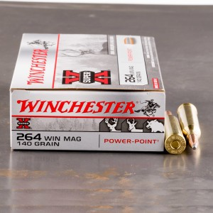 20rds - 264 Win. Mag. Winchester 140gr. Power Point Ammo