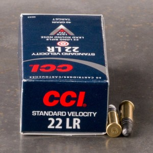 50rds - 22LR CCI Standard Velocity 40gr. Solid Point Ammo