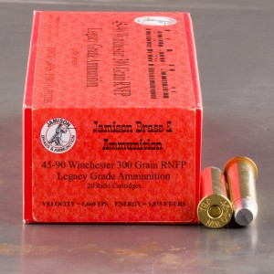 20rds - 45-90 WCF Jamison Brass & Ammunition 300gr. RNFP Ammo