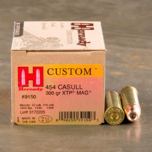 20rds - 454 Casull Hornady 300gr. XTP Hollow Point Ammo