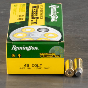 50rds – 45 Long Colt Remington Performance WheelGun 225gr. LSWC Ammo