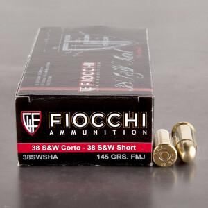 50rds - 38 S&W Fiocchi 145gr. FMJ Ammo