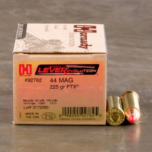 20rds - 44 Mag Hornady LEVERevolution 225gr. FTX Ammo