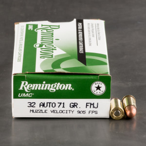 500rds - 32 Auto Remington 71gr. FMJ Ammo