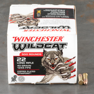 5000rds – 22 LR Winchester Wildcat 40gr. CPHP Ammo