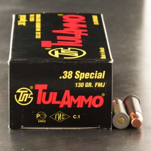 1000rds - 38 Special Tula 130gr. FMJ Ammo