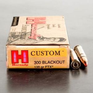 20rds – 300 AAC BLACKOUT Hornady 135gr. FTX Ammo