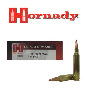 20rds - 7mm Rem Mag Hornady 139gr SST Superformance Ammo