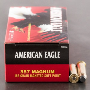 50rds - 357 Mag Federal American Eagle 158gr. Jacketed Soft Point Ammo