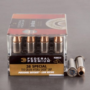 20rds - 38 Special Federal Hydra-Shok 110gr. HP Ammo